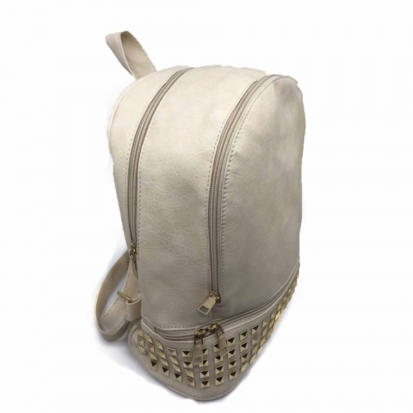 Rucsac dama Borealy, Charming Neutral, din piele ecologica 1