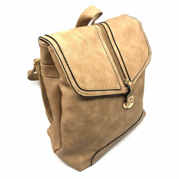 Rucsac dama Borealy, Minimal Chic, din piele ecologica 1