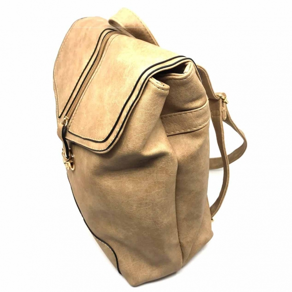 Rucsac dama Borealy, Minimal Chic, din piele ecologica 2
