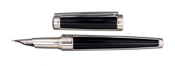 Set S.T. Dupont Luxury Fountain Pen si Note Pad Black Hugo Boss 1