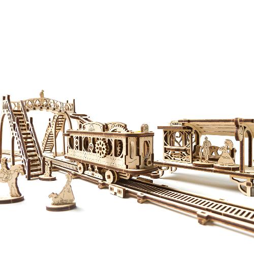 Tramvai cu statie Puzzle 3D Mecanic 0