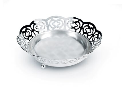 Bol placat cu argint Sera Alioth lacy bread basket by Chinelli, made in Italy 0