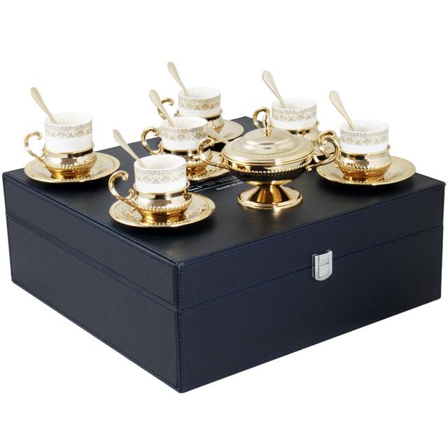Serviciu de Cafea 6 Persoane Gold Plated by Chinelli - made in Italy [1]