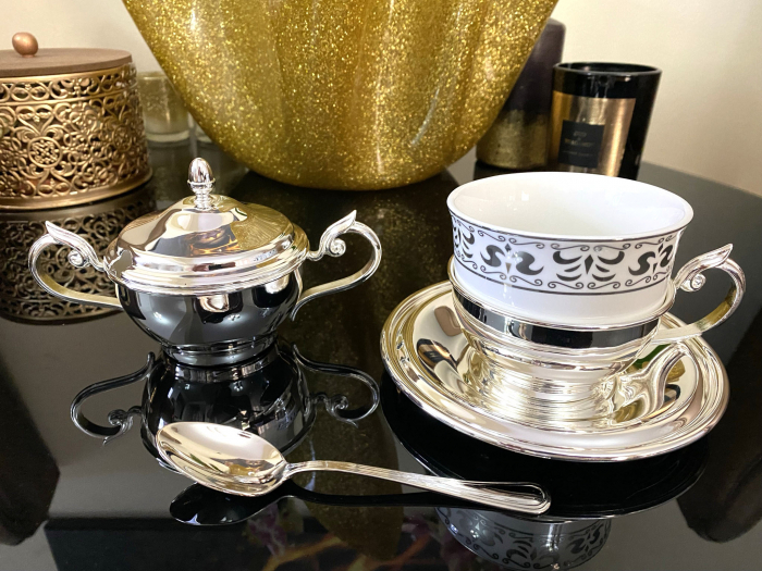 Serviciu de Cafea 6 Persoane Silver Plated by Chinelli - made in Italy [5]