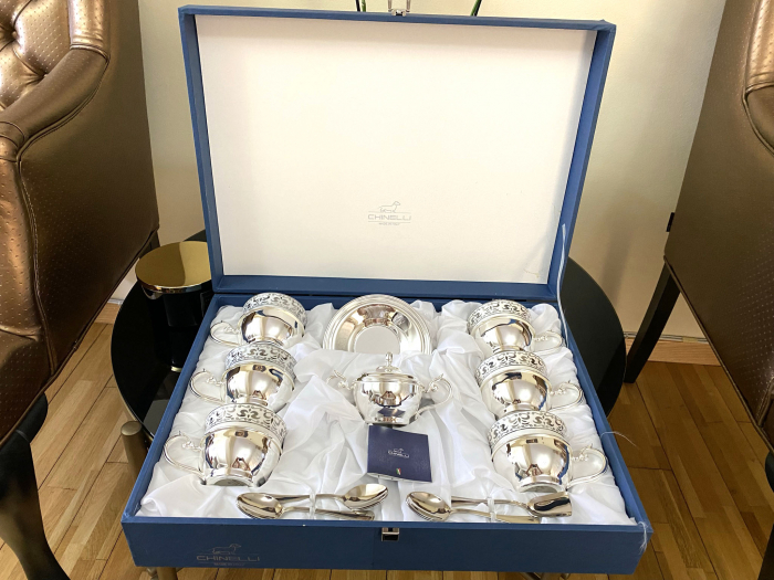 Serviciu de Cafea 6 Persoane Silver Plated by Chinelli - made in Italy [2]
