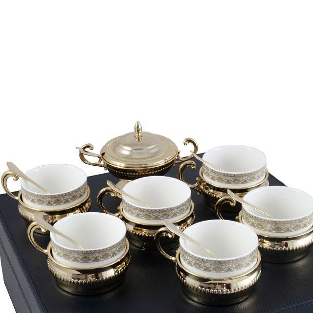 Serviciu de Cafea/ Ceai 6 Persoane Gold Plated by Chinelli - made in Italy 3