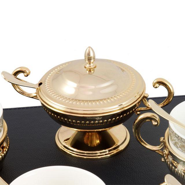 Serviciu de Cafea/ Ceai 6 Persoane Gold Plated by Chinelli - made in Italy 2