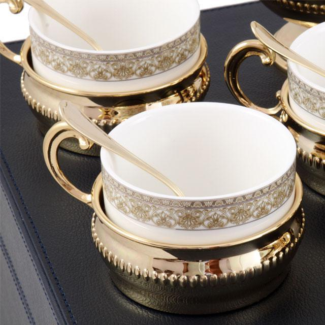Serviciu de Cafea/ Ceai 6 Persoane Gold Plated by Chinelli - made in Italy 5