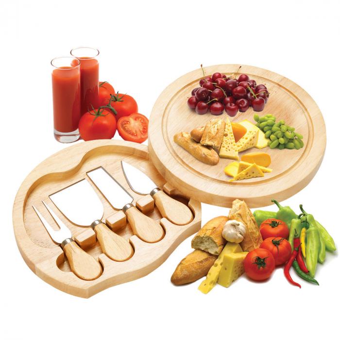Set 4 cuțite pentru brânză Professional si suport lemn [0]