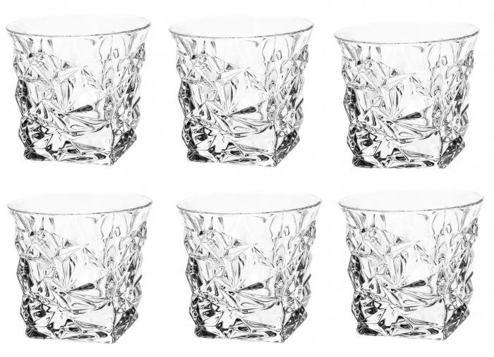 Set 6 Pahare de Whisky din cristal BOHEMIA Ice - 350 ml [0]