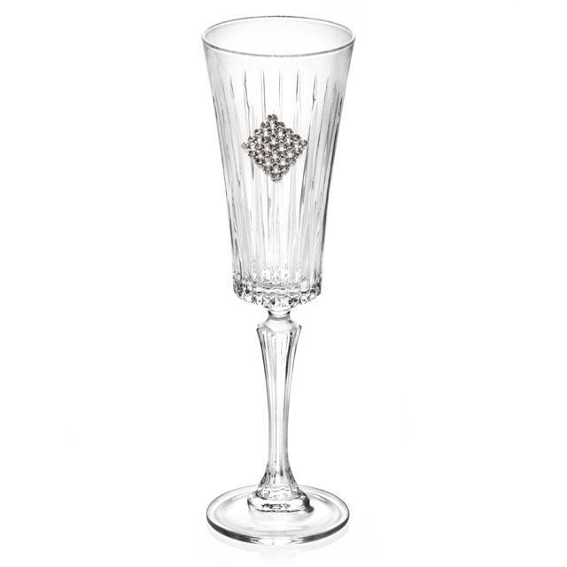 Set 6 pahare cu cristale Regina Swarovski Rombo by Chinelli - made in Italy 1