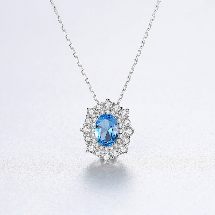 Set Cercei Colier Royal Topaz Blue 7