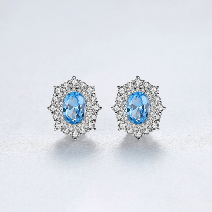 Set Cercei Colier Royal Topaz Blue 5