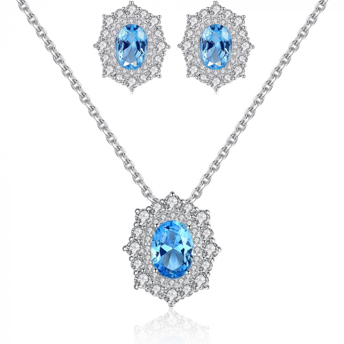 Set Cercei Colier Royal Topaz Blue 0
