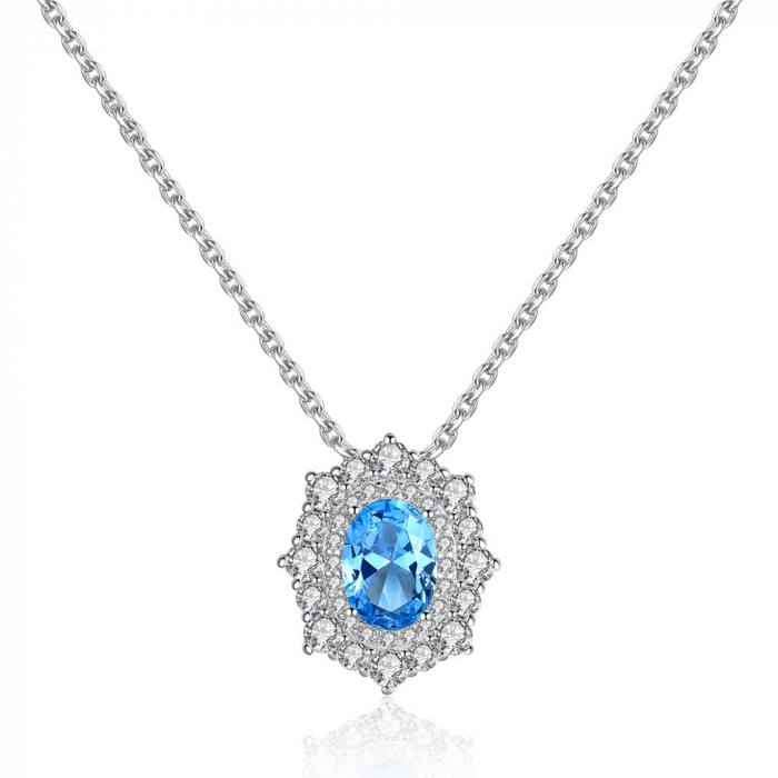 Set Cercei Colier Royal Topaz Blue 4
