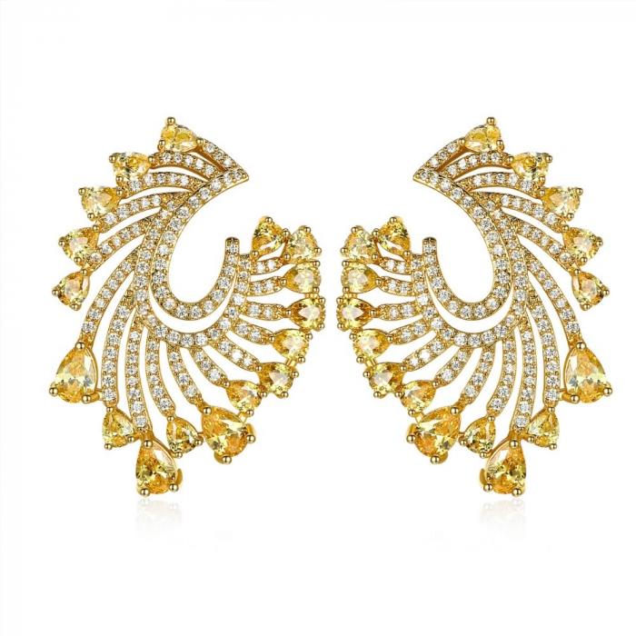 Cadou Esarfa din Matase Wild Ungaro & Cercei Precious Yellow Crystals Geanta-big