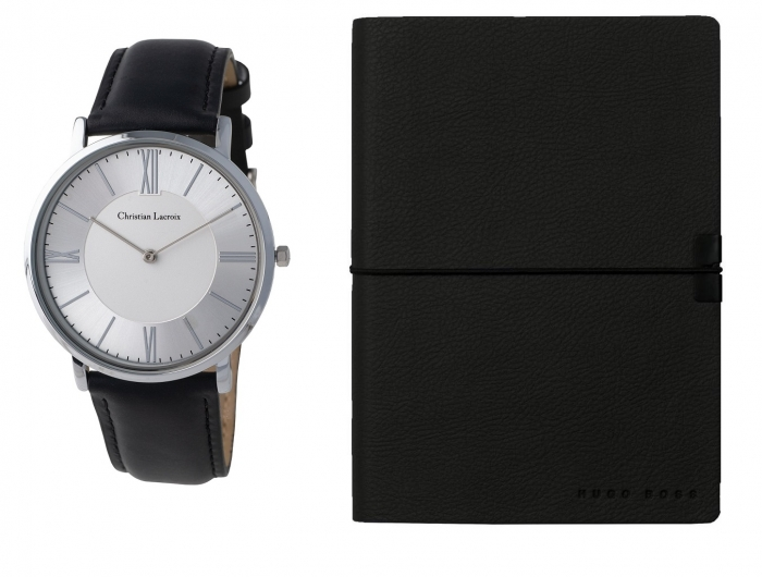 Set Ceas  Even Chrome Christian Lacroix si Agenda Hugo Boss 0