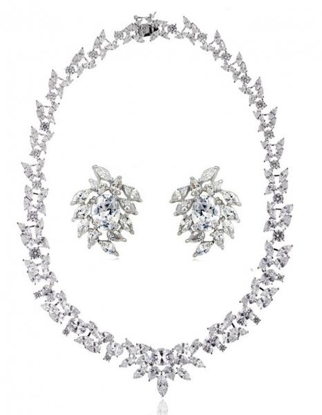 Set Cercei şi Colier Luxury Bridal Borealy 0