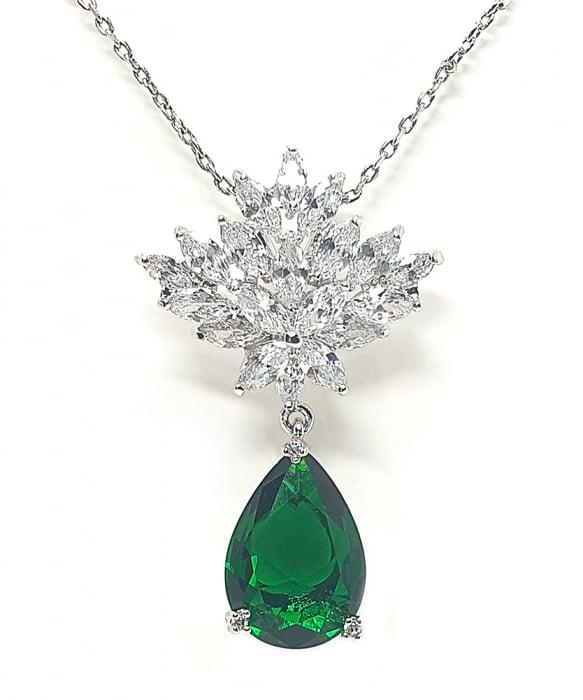 Set Cercei si Colier Borealy Glamorous Diva Smarald 1