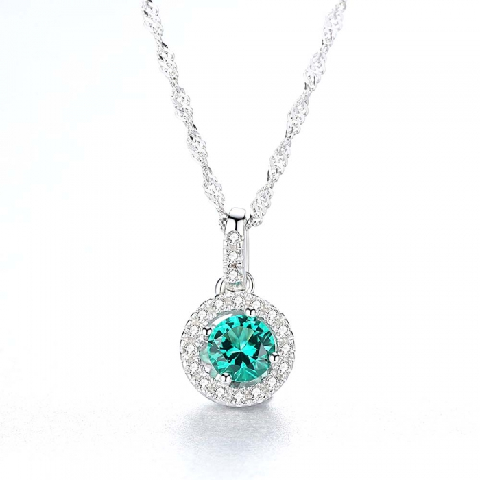 Set Colier şi Cercei Russian Sapphire Argint 925 by Borealy [2]