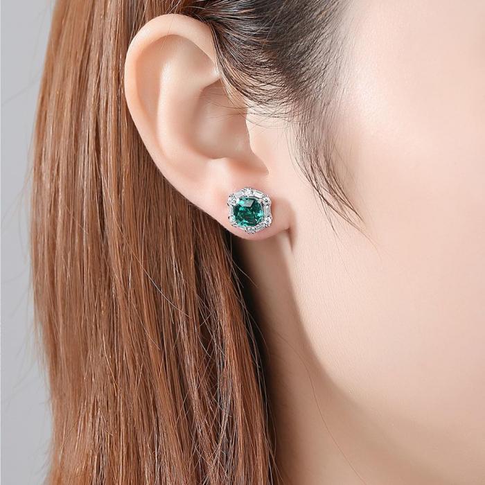 Set Colier şi Cercei Regina Emerald 2