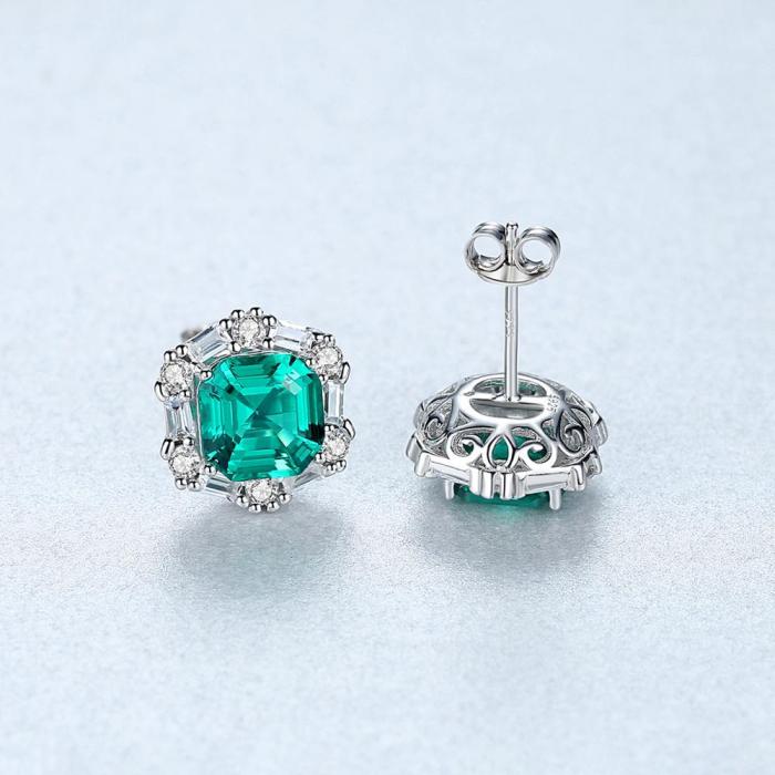 Set Colier şi Cercei Regina Emerald 6