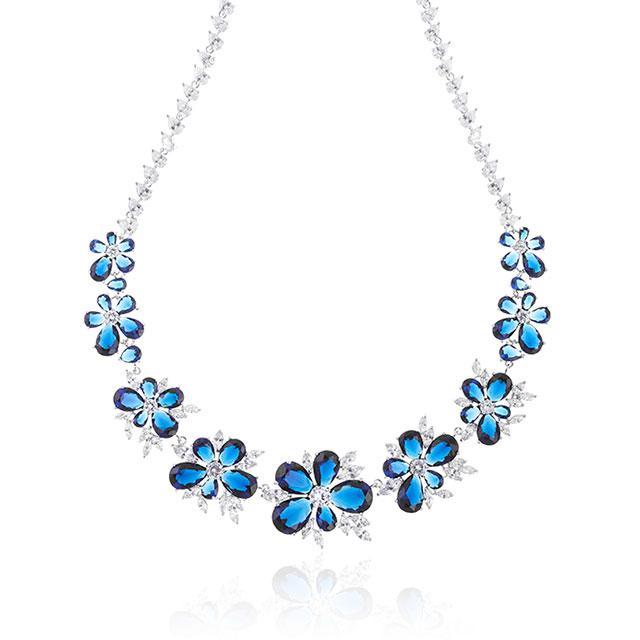 Set Colier Cercei Blue Iris Hope by Borealy 2