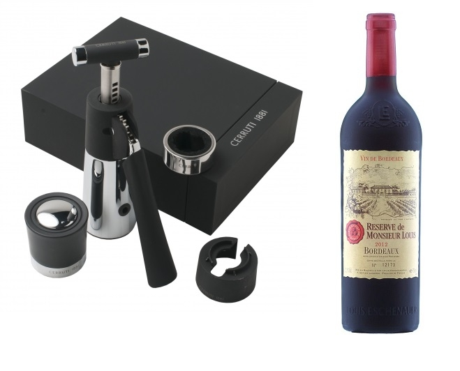 Set de vin Sommelier Cerruti 1881 & Vin Bordeaux Desk-big