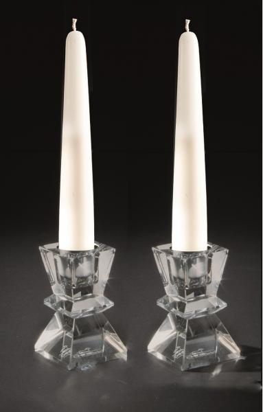Set două sfeșnice din cristal BUGIA Verticale QUADRA