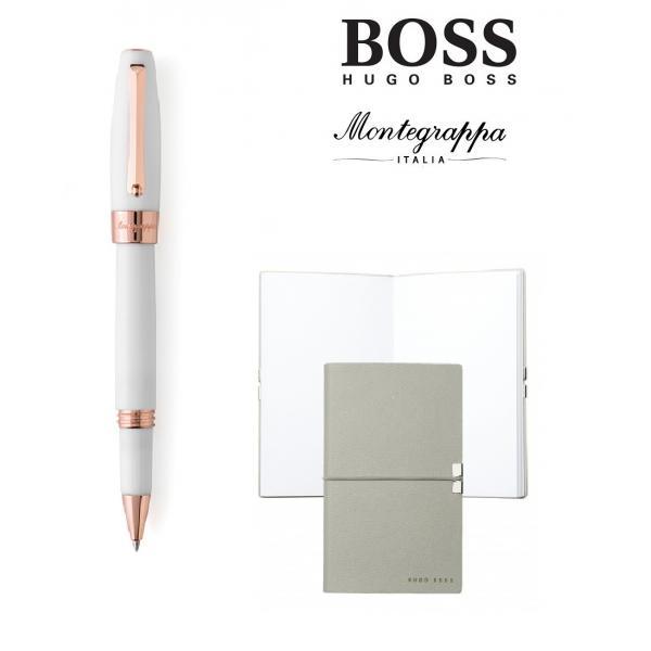 Set Fortuna White Rose Gold Rollerball Montegrappa si Note Pad Hugo Boss-big