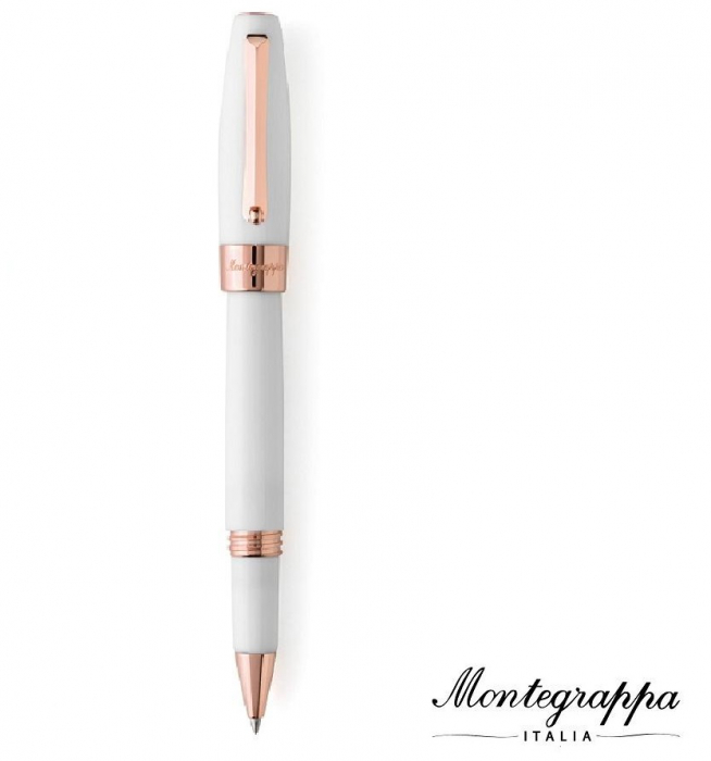Fortuna White Rose Gold Rollerball Montegrappa-big