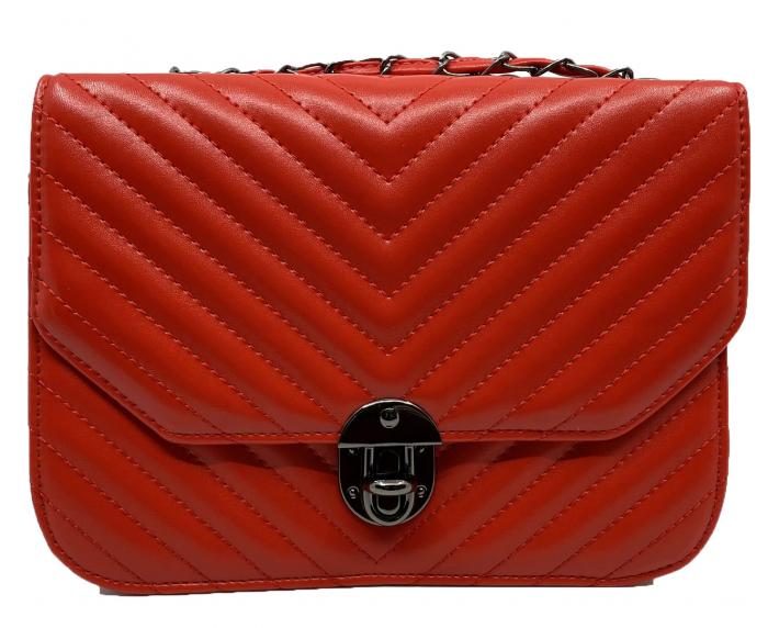 Red Glam Set Geanta, Portofel si Esarfa Casmir 4