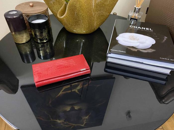 Red Glam Set Geanta, Portofel si Esarfa Casmir 2