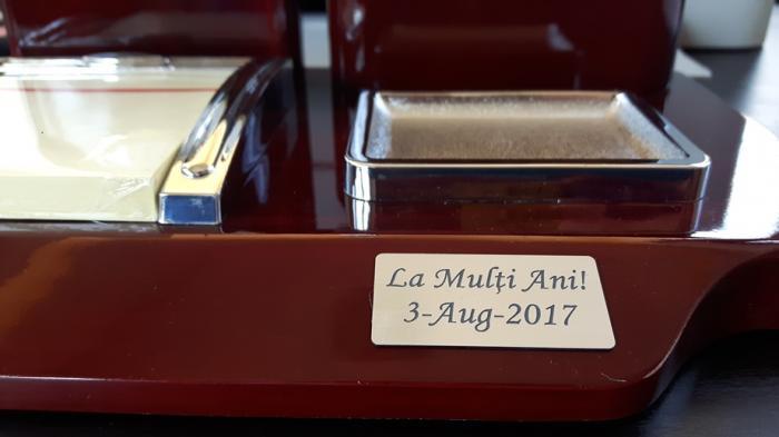Set multifunctional pentru birou Antique Mahogany cu 8 accesorii 13