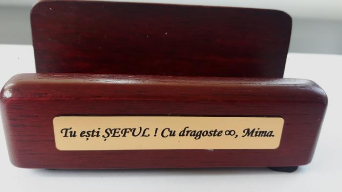 Set multifunctional pentru birou Antique Mahogany cu 8 accesorii 12