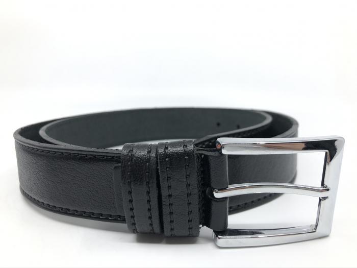 Leather Set: WestPolo Borseta, Portofel si Curea Negre Piele Naturala 6