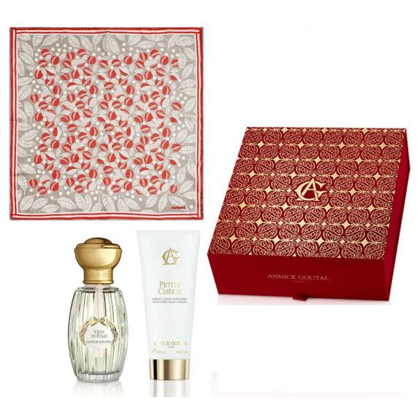 Set Vent de Folie by Annick Goutal Parfum (50 ml) + Lotiune de Corp (100 ml) si Esarfa Cacharel 0