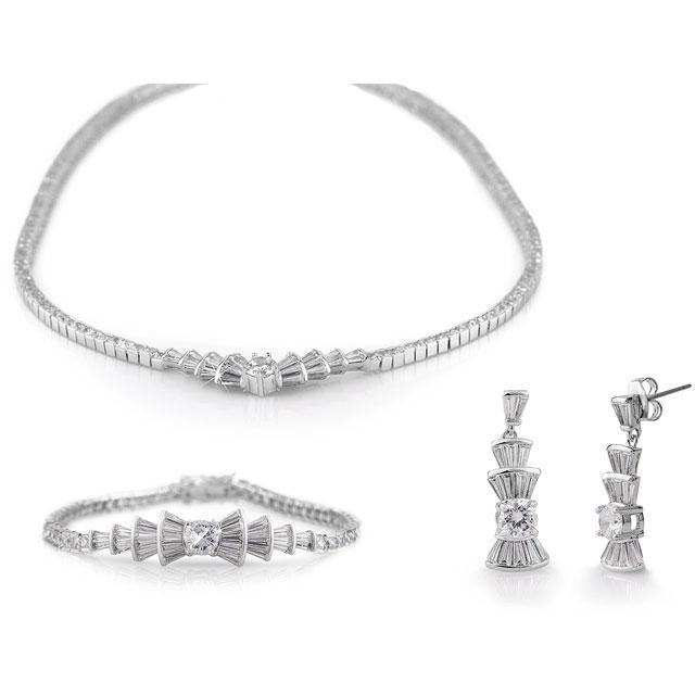 Marquise Cluster Set Colier, Cercei si Bratara Diamonds 0
