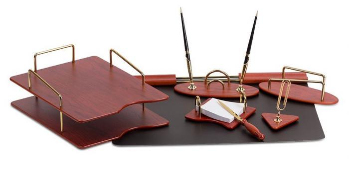 Business Brown Set Birou cu 7 Accesorii-big