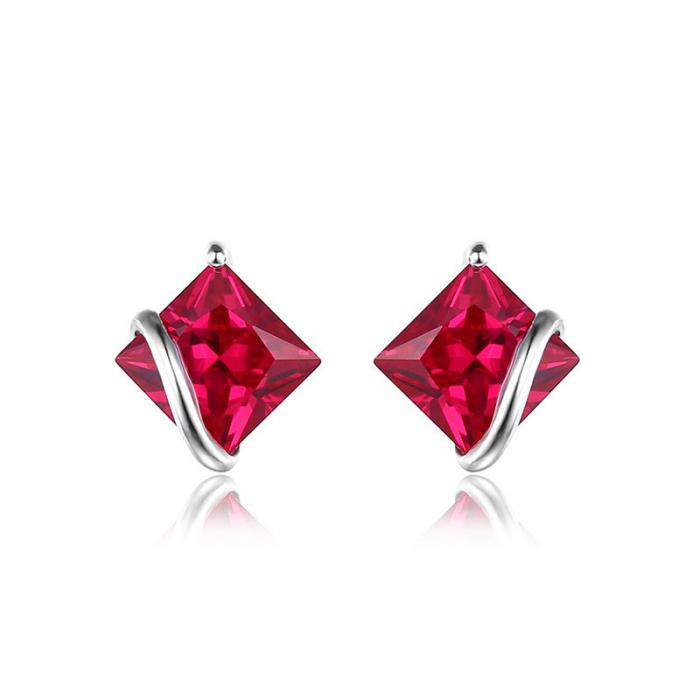 Borealy Red Merry Rubin Studs 6 carate Argint 925 1