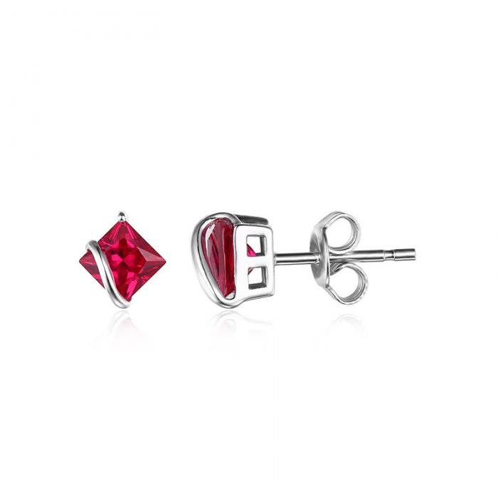 Borealy Red Merry Rubin Studs 6 carate Argint 925 3