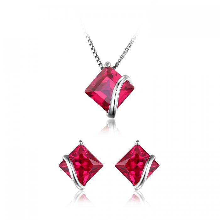 Borealy Red Merry Rubin Studs 6 carate Argint 925 0