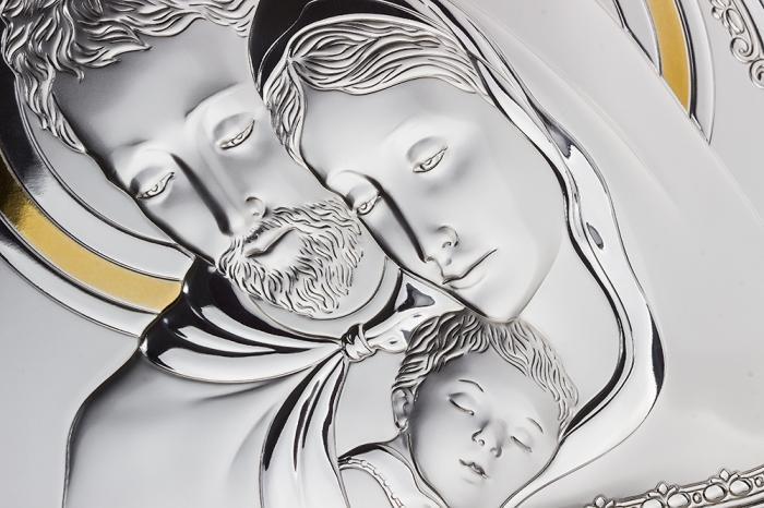 Cadou Valenti Argint Icoană şi Suport de Lumânare - Made in Italy-big