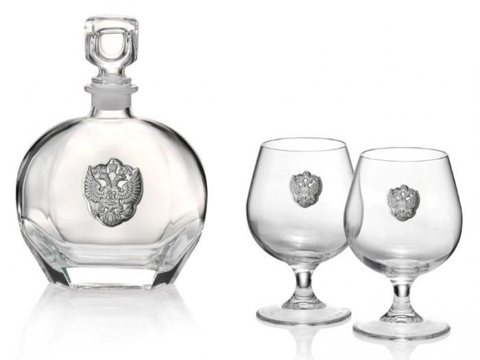 Set Cognac Eagle for Two by Valenti - Made in Italy-big