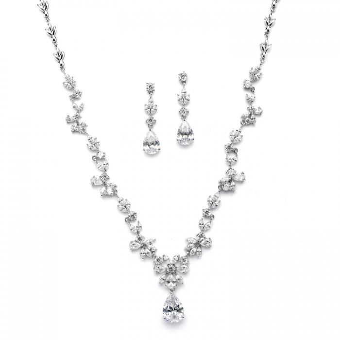 Set Borealy Argint 925 Crystals Colier si Cercei Luxurious Vine 0