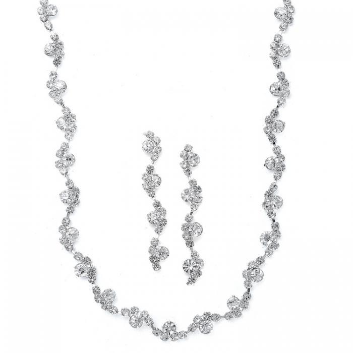 Set Borealy Argint 925 Colier si Cercei Wavy Style 0