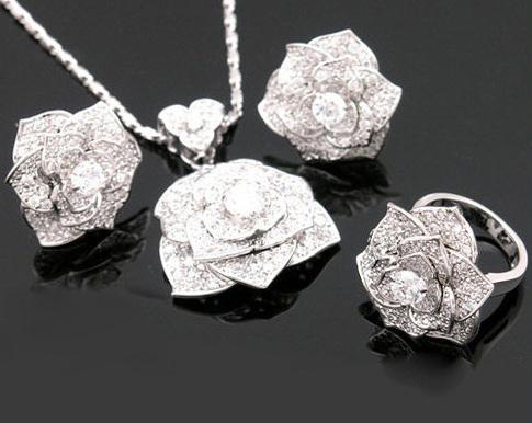 Luxury Rosa Set Cercei Borealy Colier Si Inel 6