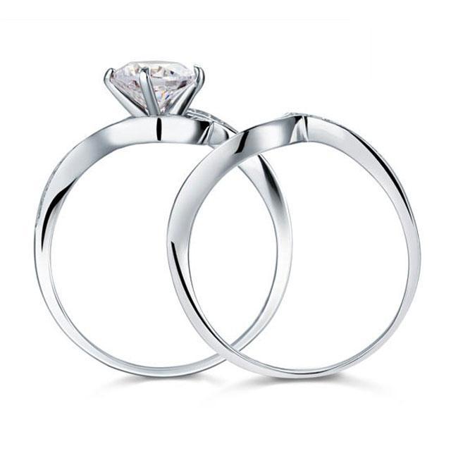 Set Inel şi Verighetă Borealy Argint 925 Luxury Princess Marimea 7,5 4