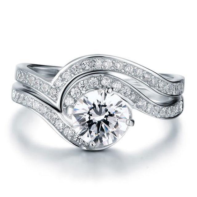 Set Inel şi Verighetă Borealy Argint 925 Luxury Princess Marimea 7,5 0