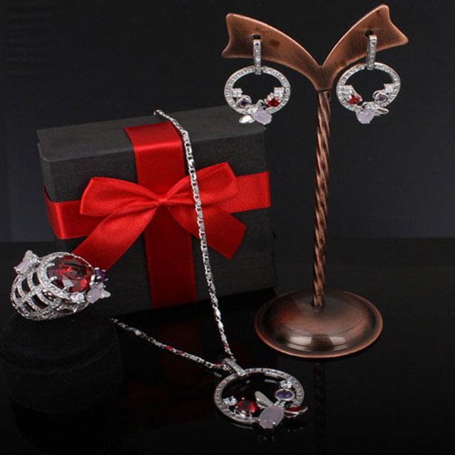 Set Borealy Medalion, Cercei si Inel Luxury Paradise-big